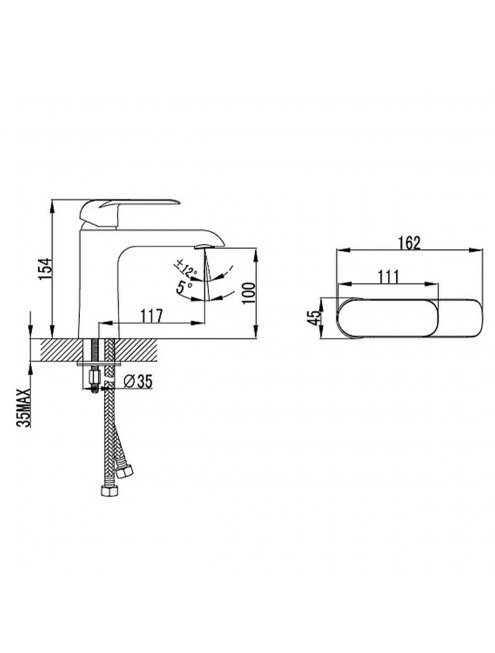 Смеситель Iddis Calipso CALSB00i01 для раковины