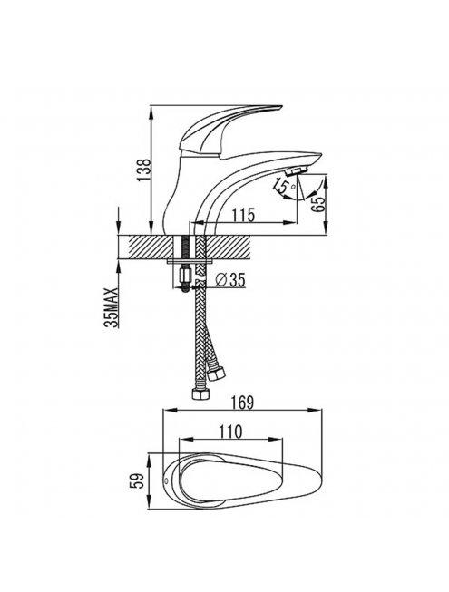 Смеситель Iddis Leaf LEASB00I01 для раковины