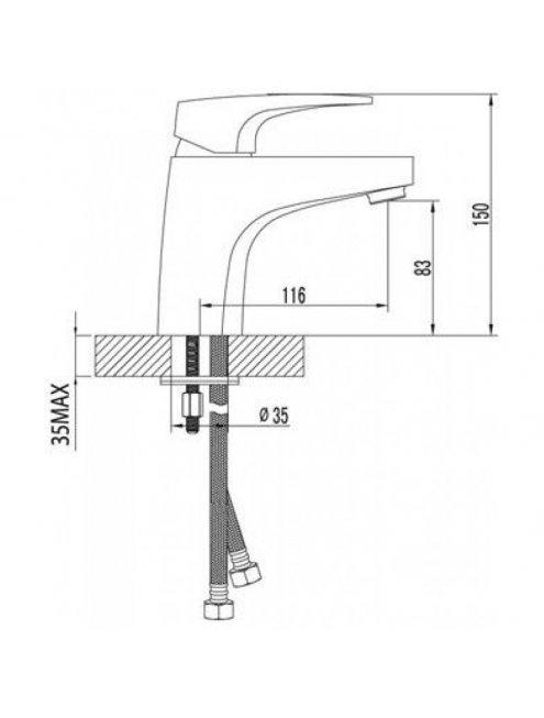 Смеситель LeMark SHIFT LM4306C для раковины