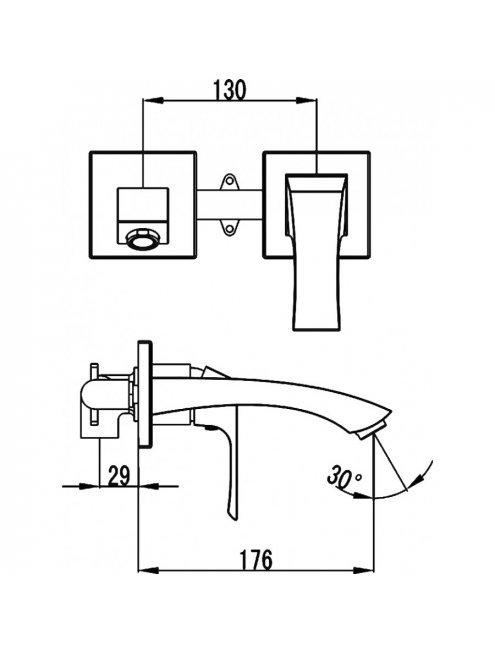 Смеситель Lemark Unit LM4526C С ВНУТРЕННЕЙ ЧАСТЬЮ, для раковины
