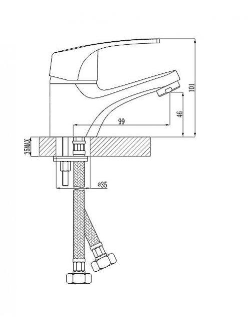Смеситель Rossinka D40-11 для раковины