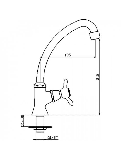 Кран Rossinka Q Q02-60U для раковины