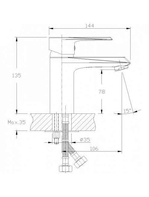 Смеситель Rossinka RS28-11 для раковины