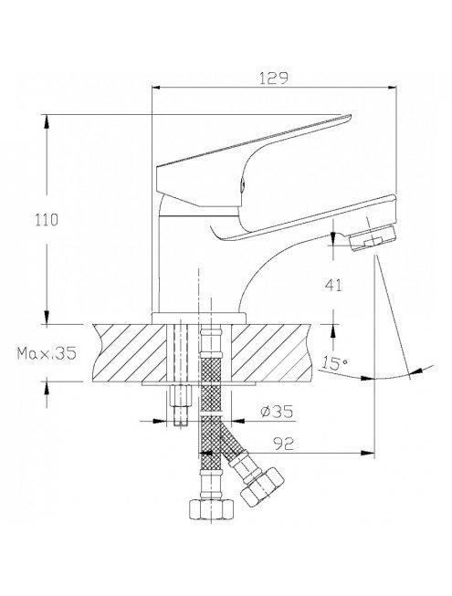 Смеситель Rossinka RS29-11 для раковины