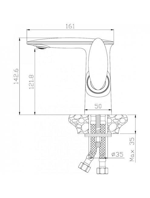 Смеситель Rossinka RS30-11W для раковины, с донным клапаном