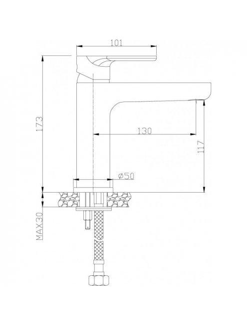 Смеситель Rossinka RS33 RS33-13 для раковины