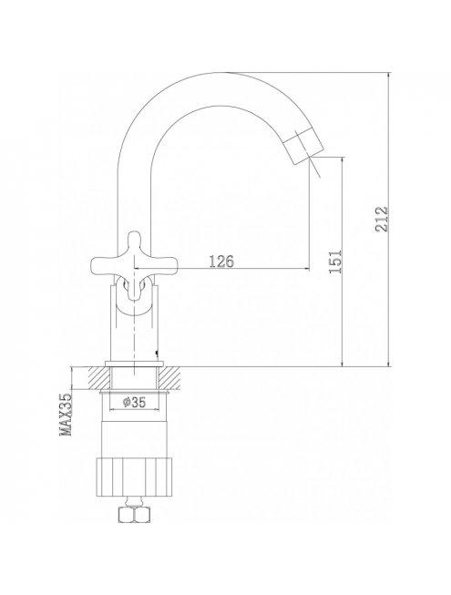 Смеситель Rossinka RS39-62U для раковины