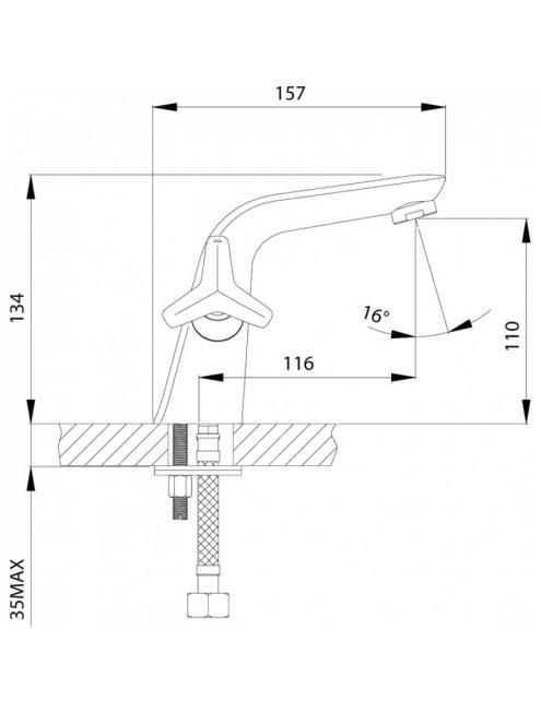 Смеситель Rossinka RS41-61 для раковины