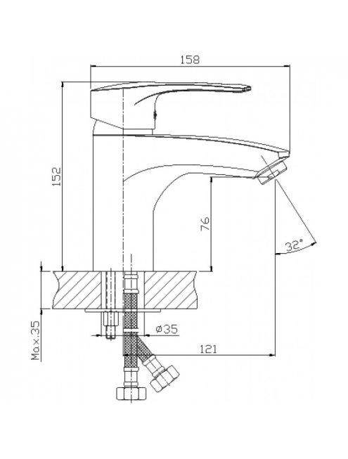 Смеситель Rossinka T T40-15 для раковины с гигиеническим душем