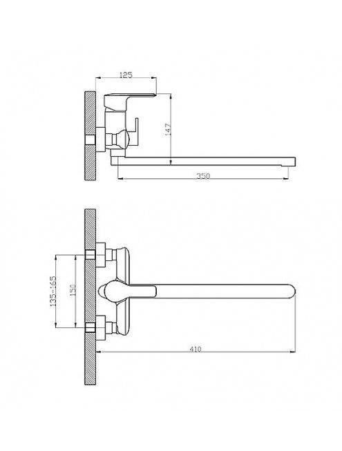 Смеситель Rossinka V35-32 универсальный