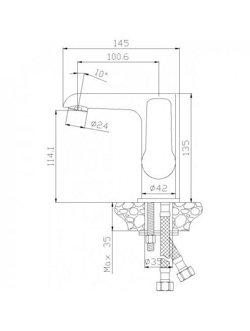 Смеситель Rossinka W W35-11 для раковины