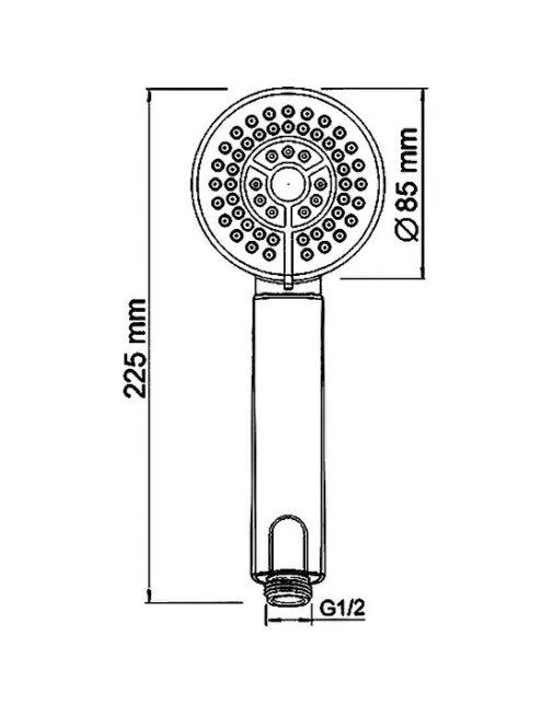 Смеситель Wasserkraft Weser 7801 для ванны с коротким изливом