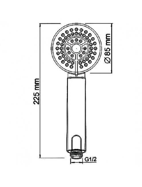 Смеситель Wasserkraft Weser 7802L для ванны с длинным изливом
