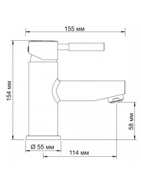 Смеситель Wasserkraft Main 4103 для раковины