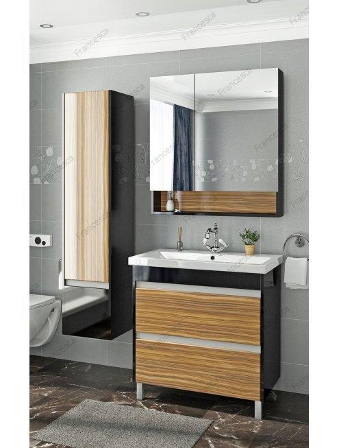 Комплект мебели Francesca Doremi 80, черный/ясень (2 ящика, ум. Cомо 80)
