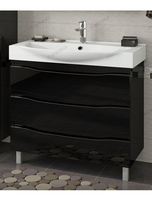 Комплект мебели Francesca Forte 85 напольная черный (3 ящика, ум. Элвис 85)