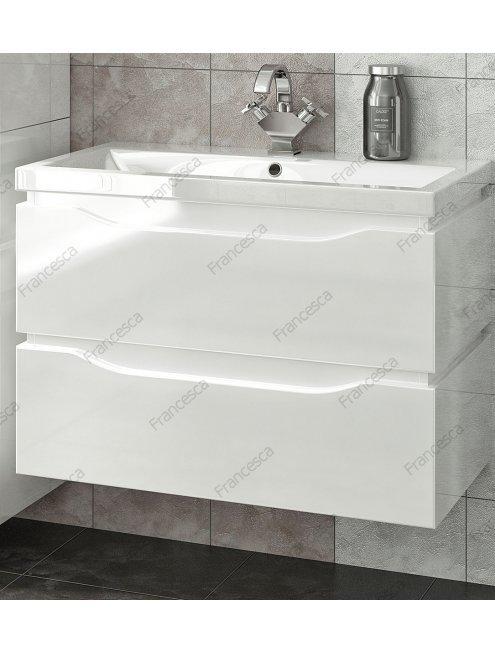 Комплект мебели Francesca Latina 80 подвесной белый