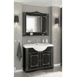 Комплект мебели Венеция Аврора 105 черный с патиной серебро