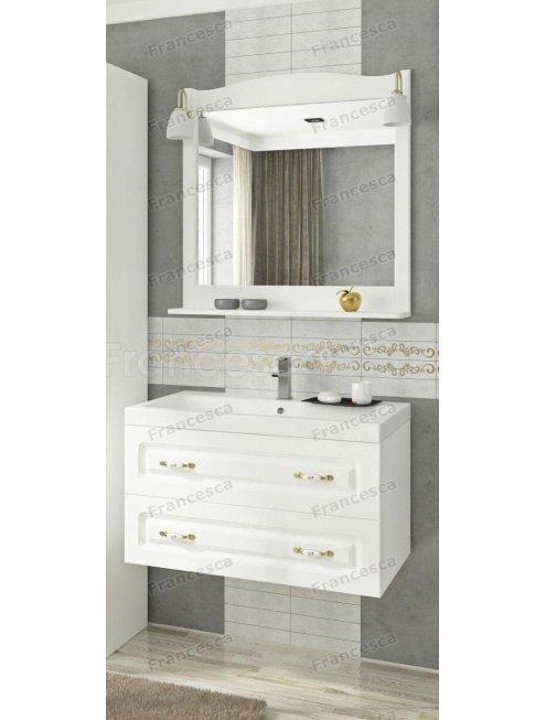 Комплект мебели Francesca Империя П 80 подвесной белый