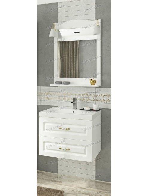 Комплект мебели Francesca Империя П 60 подвесной белый