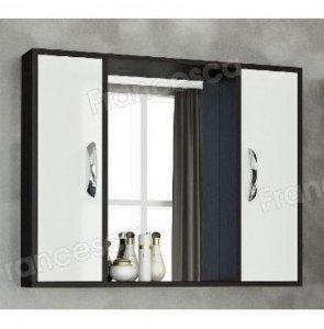 Шкаф-зеркало Francesca Eco Max 90 белый-венге (снято)