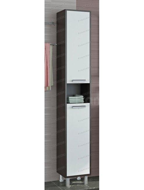 Пенал Francesca Eco 30 венге/белый (2дв. универсальный)