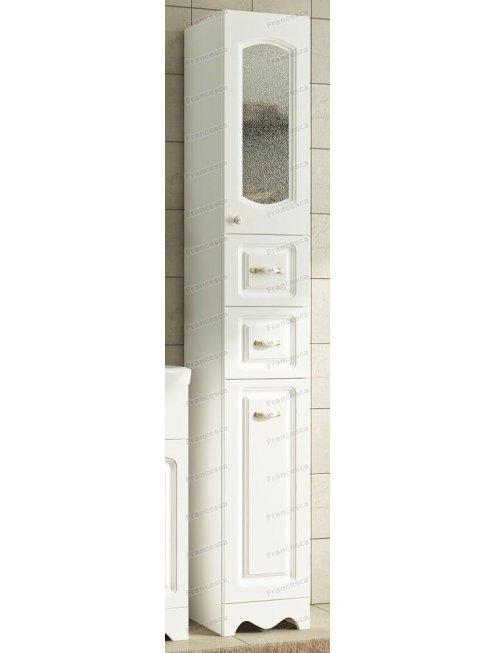 Пенал Francesca Империя 30 с бельевой корзиной белый