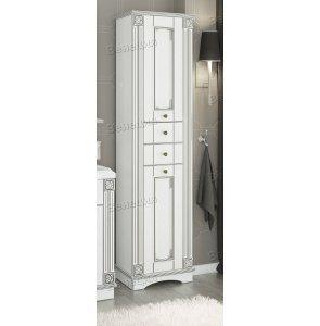 Пенал Венеция Аврора 50 цвет: белый с патиной серебро