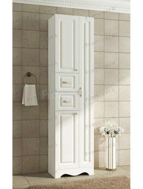 Пенал Francesca Империя 50 белый двойной, без корзины