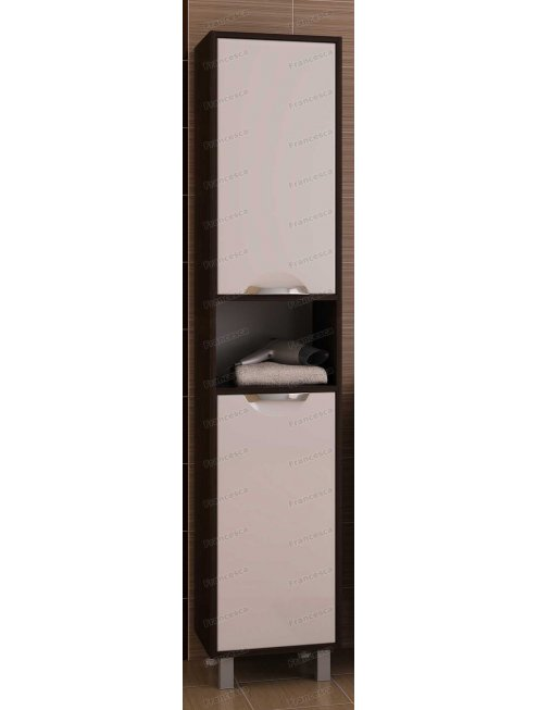 Пенал Francesca Клео 40 белый/венге универсальный