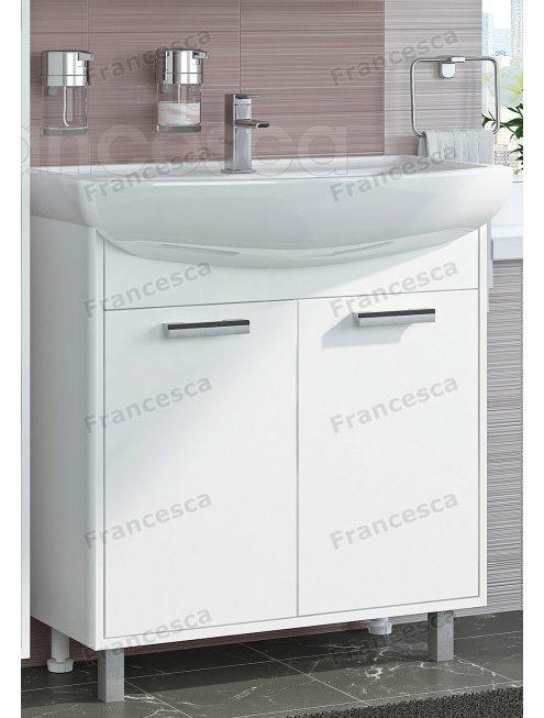 Тумба с раковиной Francesca Eco 80 белый (2 дв. ум. Балтика 80)