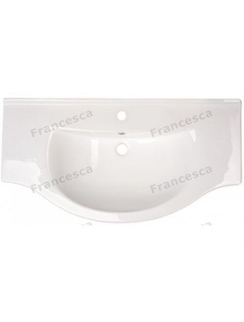 Тумба с раковиной Francesca Инфинити 100 белый (3 двери, ум. Эльбрус 100)