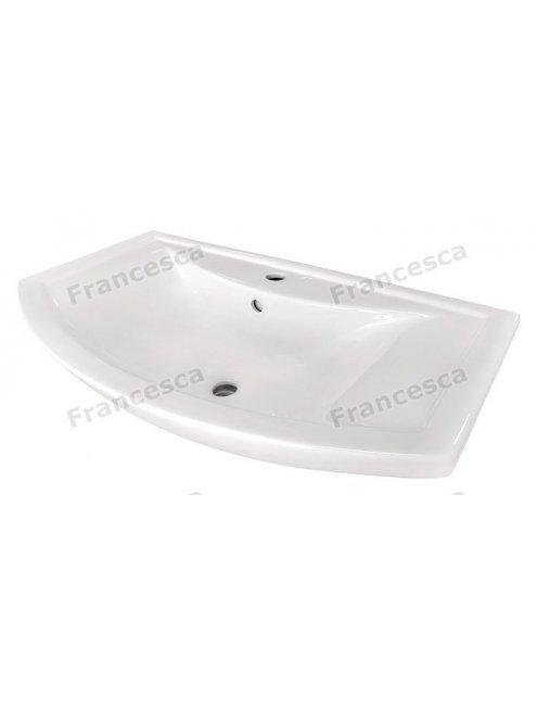 Тумба с раковиной Francesca Eco 80 венге/белый (2 дв. ум. Балтика 80)