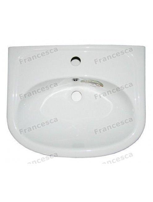 Тумба с раковиной Francesca Империя 50 белый (2 двери, ум. Уют 50)