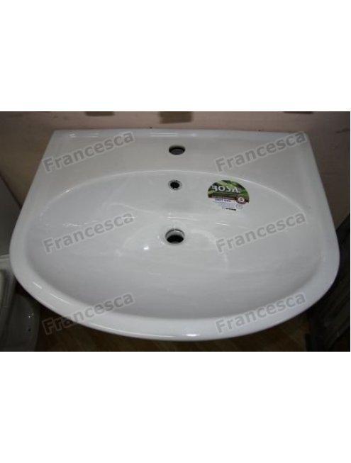 Тумба с раковиной Francesca Империя 60 1 Б. Ящ белый (2 дв. + 1 Большой ящ., ум. Уют 60)