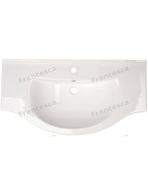 Тумба с раковиной Francesca Версаль 100 белый/венге (2ящ+4дв, ум. Эльбрус 100)