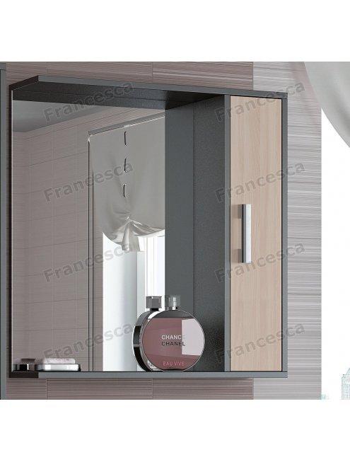 Шкаф-зеркало Francesca Eco 70 дуб-венге