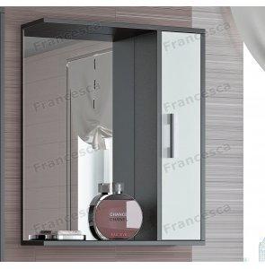 Шкаф-зеркало Francesca Eco 60 белый-венге