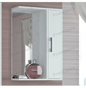 Шкаф-зеркало Francesca Eco 50 белый