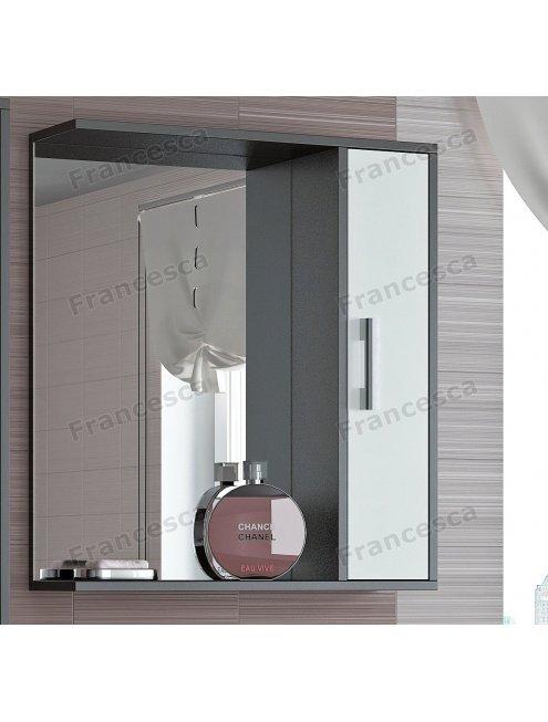 Шкаф-зеркало Francesca Eco 65 белый-венге