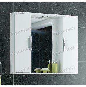 Шкаф-зеркало Francesca Доминго 80 белый 2 шкафа