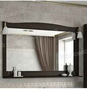 Зеркало Francesca Империя 120 венге полотно (со светильниками)