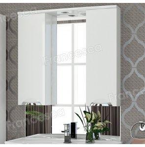 Шкаф-зеркало Francesca Виктория 90 белый