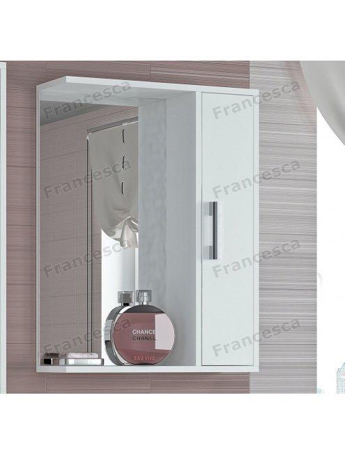 Шкаф-зеркало Francesca Eco 55 белый