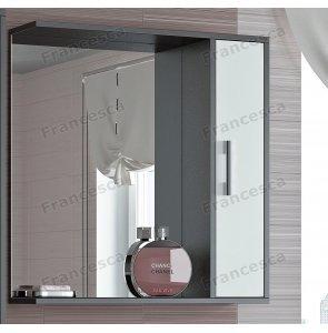 Шкаф-зеркало Francesca Eco 70 белый-венге