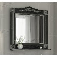 Зеркало Венеция Аврора 85 черный с патиной серебро