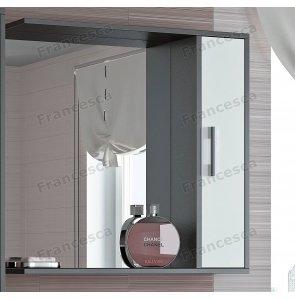 Шкаф-зеркало Francesca Eco 75 белый-венге