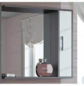 Шкаф-зеркало Francesca Eco 80 белый-венге
