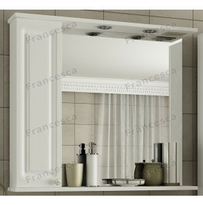 Шкаф-зеркало Francesca Империя 85 белый
