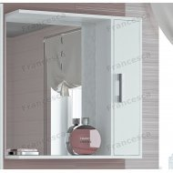 Шкаф-зеркало Francesca Eco 70 белый